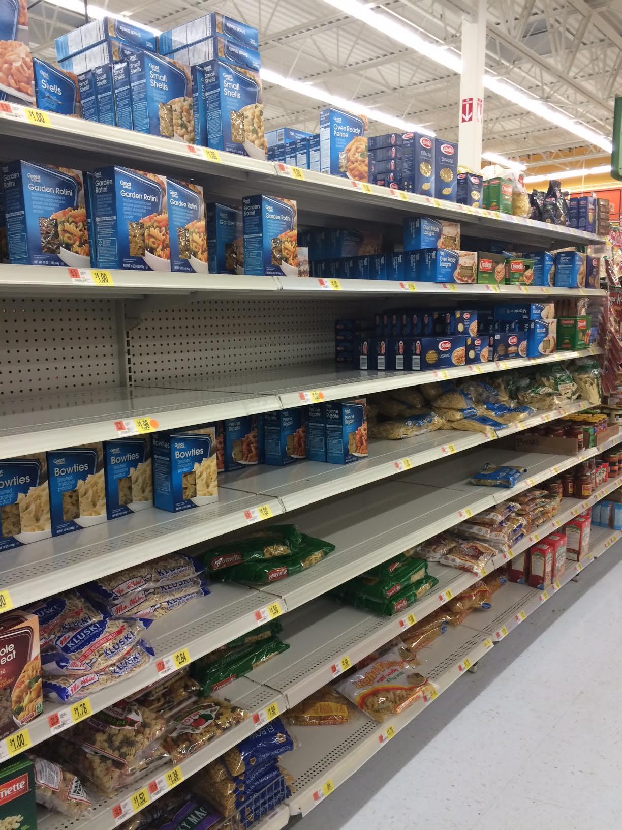Walmart Empty Store Shelves